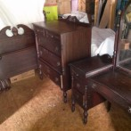 Vintage Mahogany Bedroom Set For Sale