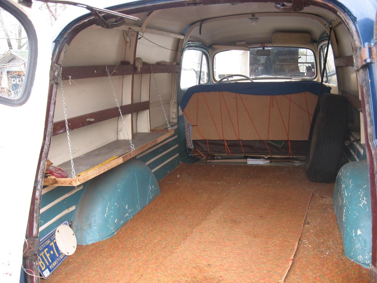 1949 Ford Panel Truck Interior Cargo